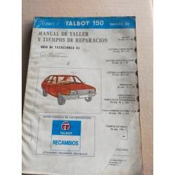 MANUAL TALLER TALBOT 150