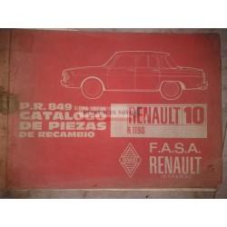 CATALOGO PIEZAS RENAULT R10 CARROCERIA R1190