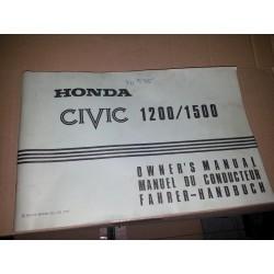 MANUAL DE INSTRUCCIONES HONDA CIVIC