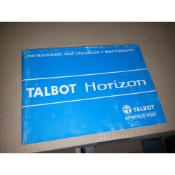 MANUAL DE INSTRUCCIONES TALBOT HORIZON